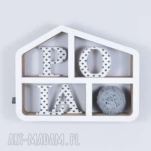 półka na książki zabawki domek ecoono biały - półka