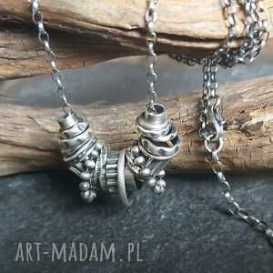 naszyjniki naszyjnik srebrny, oksydowany, ze srebra