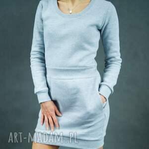 Sweatdress, dresowa, długi-rękaw, ciepła, z-kieszeniami, streetwear