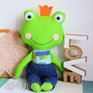 zabawki królewicz zaczarowany w żabkę - 45 cm, żabka, chłopczyk, książę