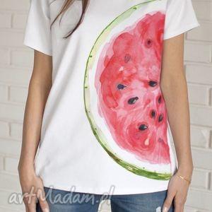ARBUZ koszulka bawełniana L/XL biała, koszulka, bluzka, tshirt, nadruk, arbuz