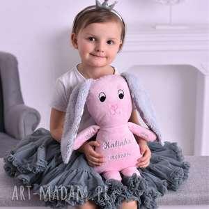 Prezent Przytulanka dziecięca miś z metryczką, poduszka-miś, pomysł-na-prezent,
