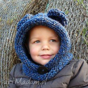 niedźwiedź, komin, czapka, dziecko, prezent, zima, jesień ubranka