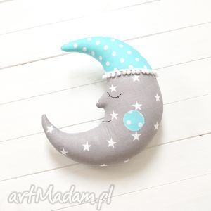Księżyc, księżyc, poduszka, gwiazdki, poducha, gwiazdy, rogalik