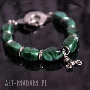 bransoletka zielony wieczny cykl życia, kamień, triskelion, bdsm