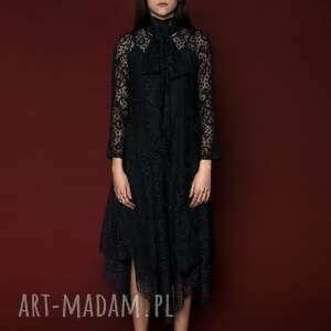 sukienka koronkowa z kokardą, sukienka, koronka, romantyczna, asymetryczna
