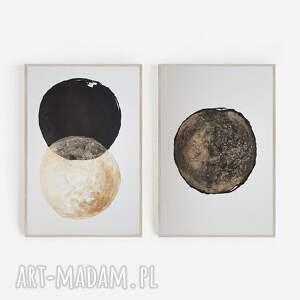 złoto i czerń-minimalizm, akwarela, minimalizm