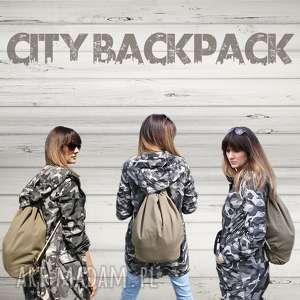 Plecak City Backpack - Khaki, plekak, worek, wakacje, rower, plaża, torba