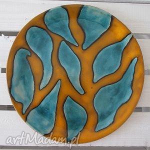 ceramika fantazyjna, talerz, ceramiczny, patera, ceramiczna, kolorowa