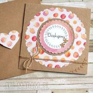handmade kartki dziękujemy: brzoskwinki:: podziękowanie