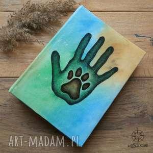wolfpath studio album na zdjęcia przyjaciele z ręcznie malowaną okładką, pies