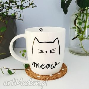 kubek meow - ,meow,kot,kotek,cat,kubek,