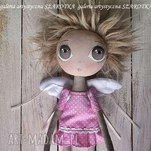 Aniołek lalka - dekoracja tekstylna, ooak one of a kind