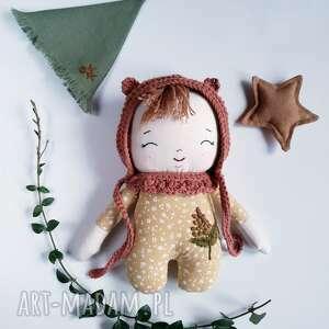 mały leśny skrzat-kalinka, skrzat, pierwsza lalka, leśne, lniana, ekologiczna