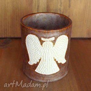kubek na szczoteczki, łazienka, kubek, anioł, łazienkowy, aniołek, ceramiczny