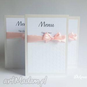 wyjątkowy prezent, ślub menu pavetta, menu, karta, wesele, tłoczone, serduszka