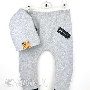 Komplet spodnie Buggy i ciepła czapeczka szary 92, spodnie, buggy, komplet, zestaw