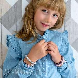 Prezent BRANSOLETKA z perełek Swarovskiego - for KIDS, perła, swarovski, 925, serce