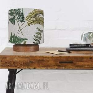 lampidarium lampa stołowa rustykalna paprocie, rustykalna, drewniana
