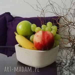 hand made dekoracje betonowa kwadratowa miska na owoce i przekąski
