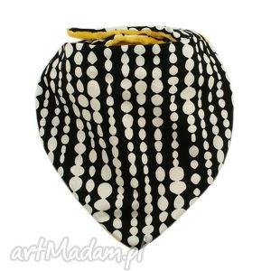 apaszka, wzór beads, kropki, mango, polar, minky