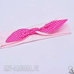 Opaska pin up różowa z fuksją opaski uszyciuch up, pinup, opaska