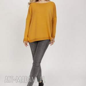 dzianinowa bluza - swe222 mkm saffron, bluzka, bluzka na wiosnę