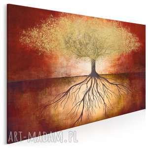 vaku dsgn obraz na płótnie - drzewo złoty czerwony 120x80 cm 86401