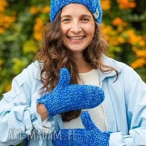 ręcznie robione rękawiczki love snow