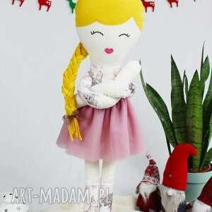 elizka, piękna lalka-szmacianka, ogromna prawie 75 centymetrów, szmacianka