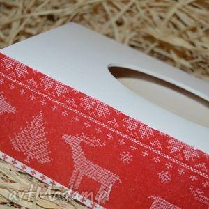 pomysł na prezent święta Chustecznik - pudełko chusteczki Motyw norweski