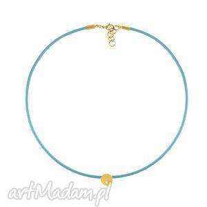 ręcznie wykonane naszyjniki choker - sznurek - blue