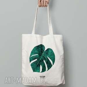torebki torba bawełniana monstera, torba, torebka, bawełniana, grafika