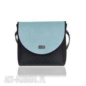 na ramię torebka z wymiennymi klapkami puro classic 2659 blue cold smooth