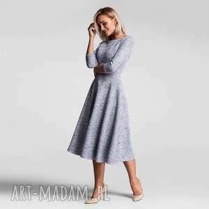 sukienki sukienka klara 3/4 total midi nikola szary błękit melanż