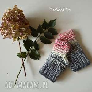 rękawiczki mitenki, rękawiczki, na dłonie, jesień, wełniane