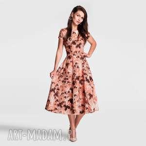 sukienki sukienka klara total midi dominique, sukienka, midi, kwiaty