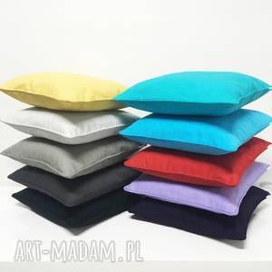 poduszka premium jednobarwna 40x40cm od majunto, gruba tkanina, poduszki ozdobne