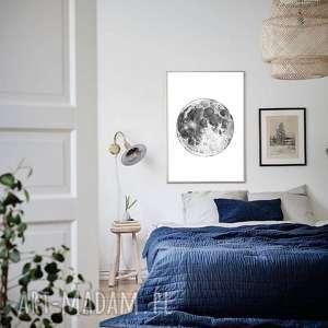 Moon A1, plakat, plakaty, obraz, grafika, księżyc, moon