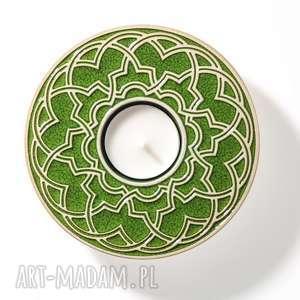 Prezent lampion GEOMETRYCZNY ciemno zielony w pudełku, świecznik, lampion, dekoracja
