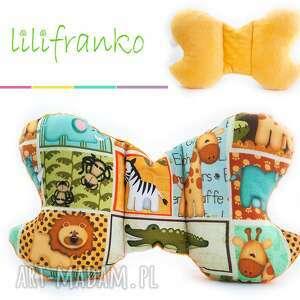 dla dziecka poduszka podróżna safari żółty, poduszka, podróżna, motylek, niemowlęca