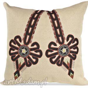 poduszka dekoracyjna z parzenicą ii, poduszka, prezent, dekoracaj, parzenica, ludowa