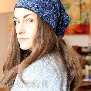 czapka damska wiosenna orientalna - orient, damska, wiosna, czapka, miękka, mama