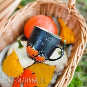 kubki jesienny kubek do herbaty z pokrywką kot i dynie