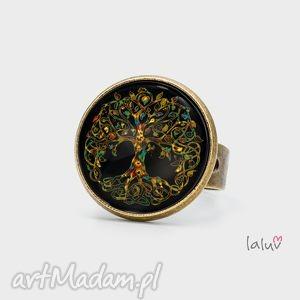 oryginalny prezent, laluv pierścionek drzewo, natura, korzenie, konary, symbol