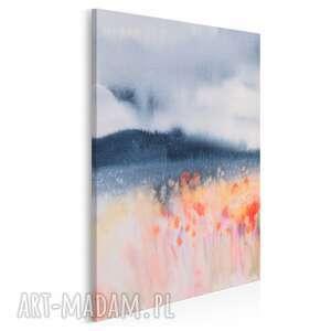 obraz na płótnie - pole kwiaty abstrakcja w pionie 50x70 cm 79003