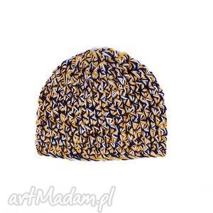 czapa triocolors 01, czapka, szydełko, unisex, dziergana, szydełkowana