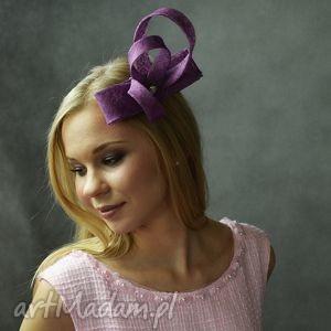 hand-made ozdoby do włosów fioletowy zawijas