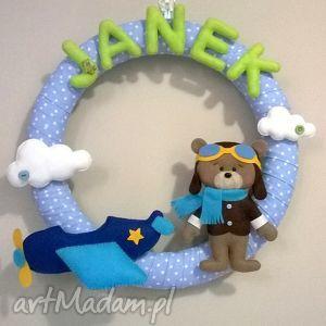 personalizowana girlanda z imieniem dziecka - girlanda, dziecko, filc, prezent, dekoracja