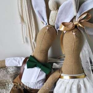 prezent dla pary młodej na ślub, podobizna, pary, młodej, prezent, szyte, lalki